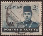 Sellos de Africa - Egipto -  Rey Farouk  1939 50 milleme egipcio