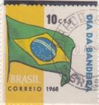 Sellos del Mundo : America : Brasil :  día de la bandera
