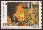 Stamps Spain -  S Dalí. Retrato de Gala con dos costillas de cordero en equilibrio sobre los hombros  1994 18 ptas