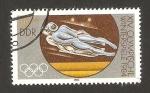 Sellos del Mundo : Europa : Alemania :  2478 - Olimpiadas de invierno en Sarajevo 1984, trineo