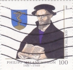 Sellos de Europa - Alemania -  Philipp Melanchthon 1497-1560,teólogo