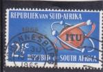 Stamps : Africa : South_Africa :  ITU 100 aniversario