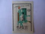 Sellos de America - Uruguay -  V Campeonato Mundial de Basquetbol Montevideo  1967