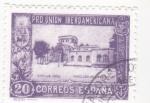 Stamps : Europe : Spain :  Pro-unión iberoamericana-pabellon de Uruguay(23)