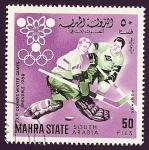 Stamps Yemen -  MAHRA STATE - Juegos Olimpicos de Invierno Grenoble - Hockey