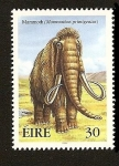 Sellos del Mundo : Europa : Irlanda : Fauna Prehistorica - Mamut