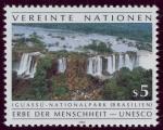 Sellos del Mundo : America : ONU :  BRASIL: Parque nacional Iguaçu