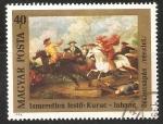 Sellos de Europa - Hungría -  choque entre Kuruts de Rakoczi y soldados de  Habsburgo ,
