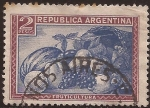 Stamps of the world : Argentina :  Fruticultura  1936  2 pesos