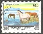 Sellos del Mundo : Asia : Mongolia : Caballos