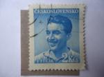 Sellos de Europa - Checoslovaquia -  J. Fucik - 2Kcs