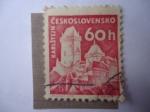 Stamps Czechoslovakia -  Karlstejn.