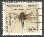 Stamps Germany -  Libellula depressa