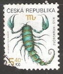 Stamps Czechoslovakia -  Escorpion