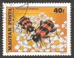 Stamps Hungary -  Trichodes apiarius