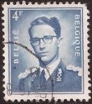 Sellos de Europa - Bélgica -  Rey Balduino  1953 4 francos