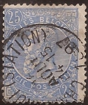 Sellos de Europa - Bélgica -  Rey Leopoldo II  1893 25 céntimos