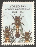Stamps Norway -  Abeja