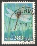 Sellos de Europa - Noruega -  Libelula