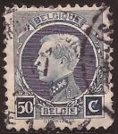 Sellos de Europa - Bélgica -  Rey Alberto I  1921 50 céntimos
