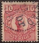 Stamps Sweden -  Gustavo V  1910 10 Öre