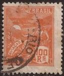 Stamps Brazil -  Aviación  1922  100 reis