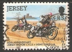 Stamps United Kingdom -  60th anniversary Jersey motor cicle