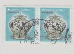 sello : Asia : Corea_del_sur : Jarron