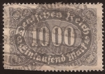 Stamps : Europe : Germany :  Números  1923  1.000 reichmark