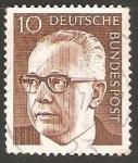 Stamps Germany -  Gustav Heinemann