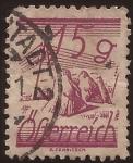 Sellos de Europa - Austria -  pajares y cables telegráficos  1934  15 groschen
