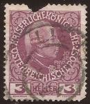 Stamps Austria -  Emperador Joseph II  1908 3 heller