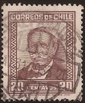 Sellos del Mundo : America : Chile : Manuel Bulnes Prieto  1931 20 centavos