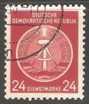 Stamps Germany -  Escudo de armas nacional de DDR
