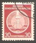 Sellos de Europa - Alemania -  Escudo de armas nacional de DDR