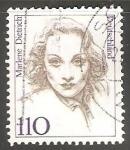 Stamps Germany -   Marlene Dietrich