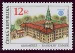 Stamps Europe - Czech Republic -  REPUBLICA CHECA: Jardines y castillo de Kromeríz