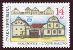 Stamps Europe - Czech Republic -  REPUBLICA CHECA: Reserva del pueblo histórico de Holašovice