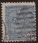 Sellos de America - Cuba -  Mapa de Cuba  1914 5 centavos