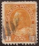 Sellos de America - Canadá -  Rey Jorge V  1922 1 centavo
