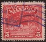 Stamps El Salvador -  Arado indígena  1938 5 centavos