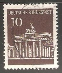 Stamps Germany -  Puerta-de-Brandenburgo-