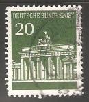 Stamps Germany -  Puerta-de-Brandenburgo-