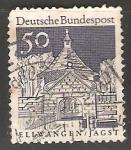 Sellos de Europa - Alemania -  Puerta del Castillo Ellwangen Jagst