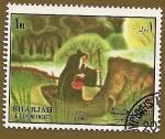 Stamps Asia - United Arab Emirates -  SHARJAH - Cuentos - Blancanieves y los 7 enanitos - La Bruja