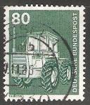 Stamps Germany -  Tractor (Massey Ferguson MF 1200)