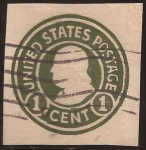 Sellos de America - Estados Unidos -  Franklin 1917 tarjeta postal 1 centavo