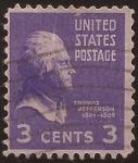 Sellos de America - Estados Unidos -  Thomas Jefferson 1938 3 centavos