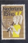Sellos de Europa - Holanda -  niña tocando música