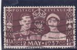 Stamps United Kingdom -  rey George VI y reina Elizabeth